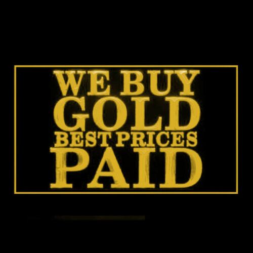 190209 We Buy Gold Best Prices Paid Commercial Display LED Light Sign