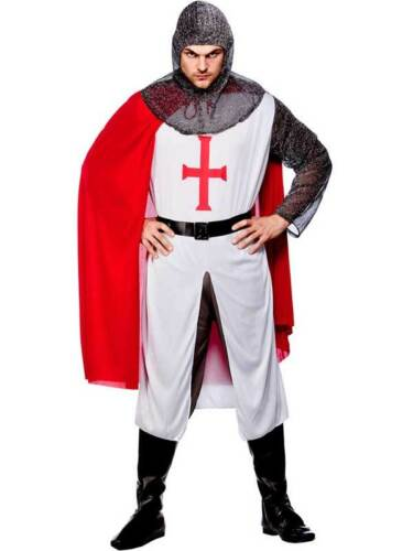 Mens Knight Fancy Dress Costume Richard Lionheart Medieval King Arthur Book Week