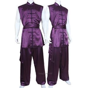 Details about Silk Satin Tai chi Uniform Martial arts Kung fu Suit Wushu  Wing Chun Clothes