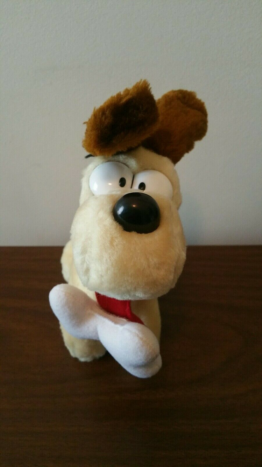 "Vintage 8"" Stuffed Plush Standing ODIE Garfield Dakin 1983 With BONE  Rare"