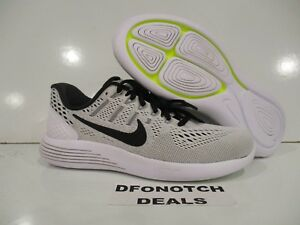Men s Nike LunarGlide 8 Running Shoes Sz 6.5 NEW White Grey Black ... 913ad98ac