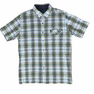 Kuhl-Short-Sleeve-Button-Down-Hiking-Shirt-Mens-Large-Plaid-NWOT