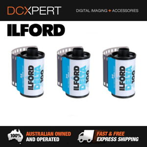 ILFORD-DELTA-100-3-PACK-24-EXPOSURES-35mm-BLACK-amp-WHITE-NEGATIVE-FILM