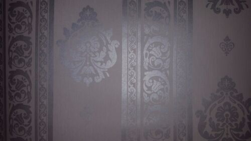Metallic Damask Wallpaper Soft Grey CO1015 Non woven past the wall wallpaper