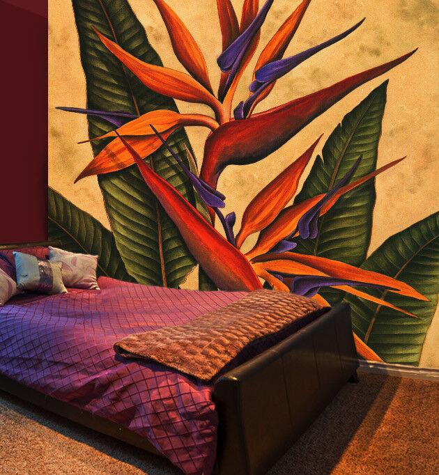 3D Paint Flower 457 Wallpaper Murals Wall Print Wall Mural AJ WALLPAPER UK Carly