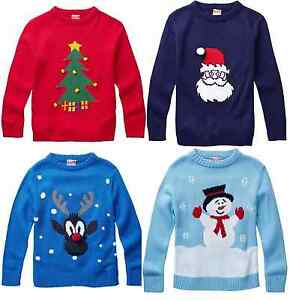 Kids-Boys-Girls-Christmas-Xmas-Novelty-Sweatshirt-Jumper-2-12-Years