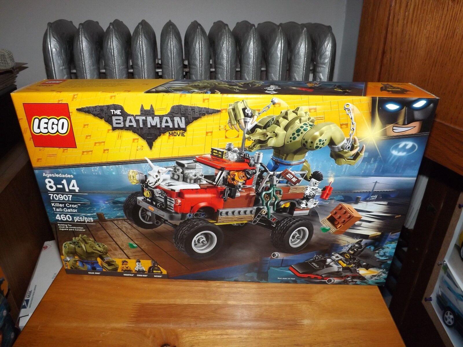LEGO, THE BATMAN MOVIE, KILLER CROC TAIL-GATOR, KIT  70907, 460 PCS, NIB, 2017