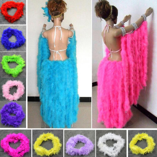 Feather Boa Stripe Fluffy Party Costume Fancy Dress Up Craft Party Wedding Decor