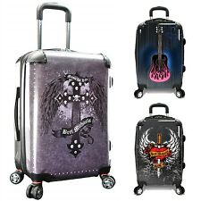 """Bret Michaels 22"""" Carry-on PC Personalized Print Expandable Spinner Suitcase Bag"""