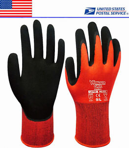 Wonder Grip Gloves Finger Mittens Work Latex Coating Nylon US Local