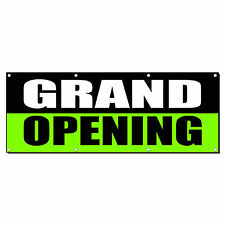 Grand Opening Black Green Promotion Business Sign Banner 2 X 4 With 4 Grommets