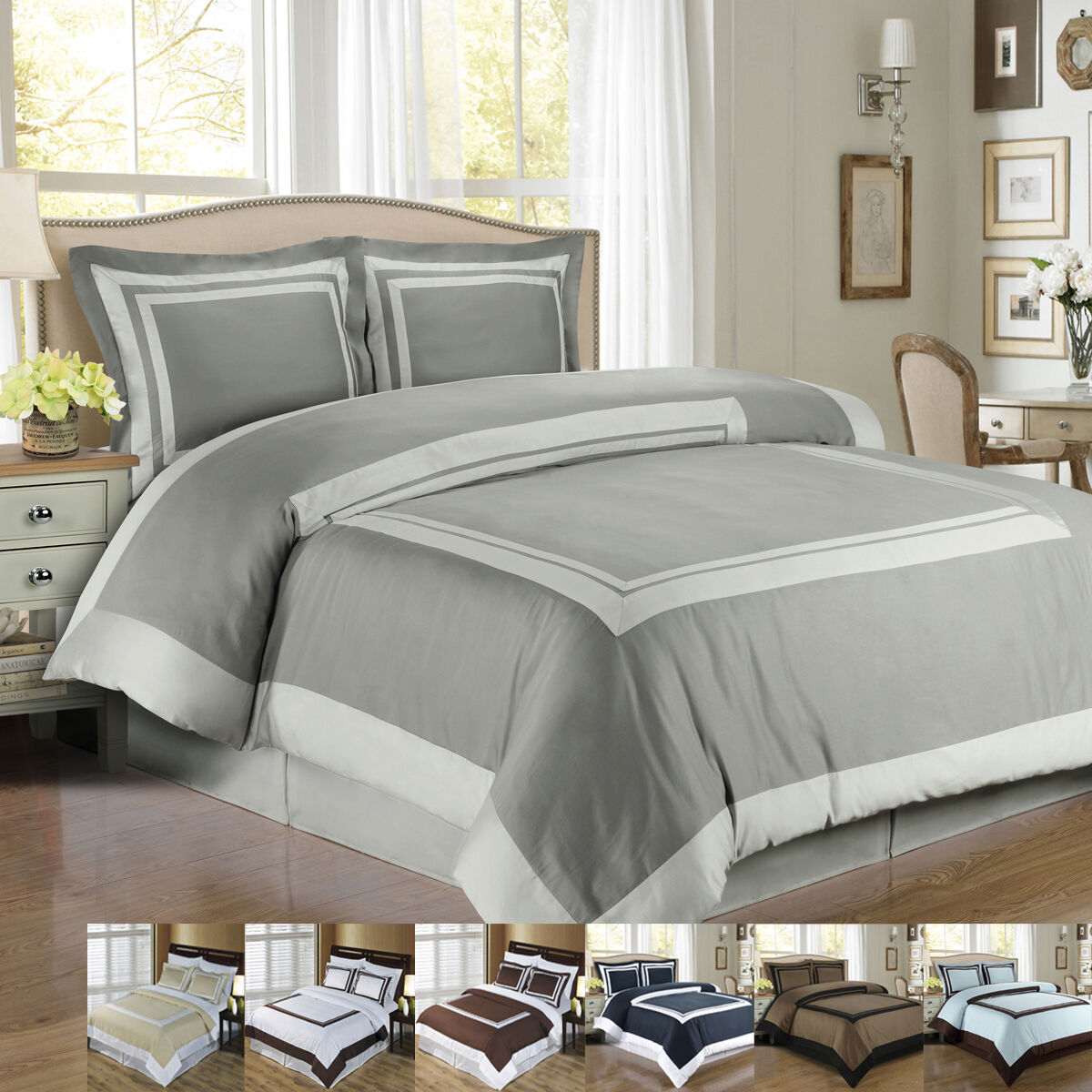 HOTEL DUVET StKunstseite SET,100% Egyptian Cotton Elegant & Ultra Sanft Duvet set