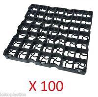 100 X Black Plastic Paving Driveway Grid Turf/ Grass/ Gravel Protectors Uk Made