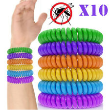 10 X INSECT MOSQUITO NON-TOXIC NATURAL WRIST OR ANKLE SOFT FABRIC BRACELET BAND