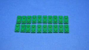 20 x 3023 grün neu LEGO Platte 1 x 2