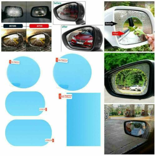 2Pcs Anti-fog Rainproof Car Rearview Mirror Stickers Protective Film Rain Shield