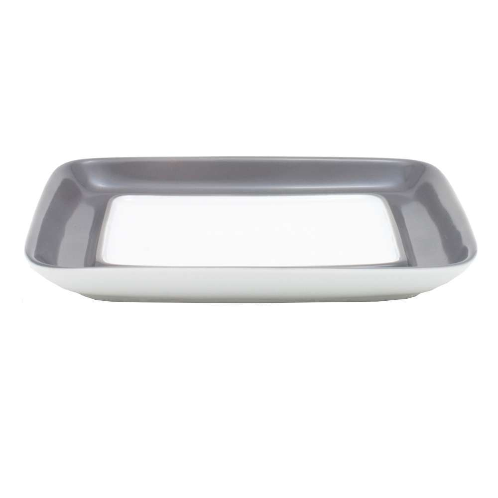 Kahla Pronto Couleure Lower Part for Butter Dish, Rectangular, Butter, Cover, gris