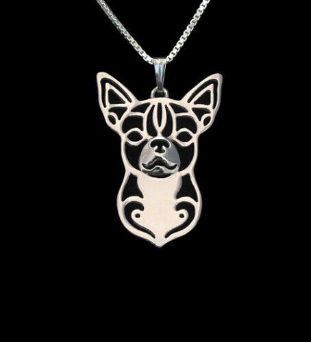 Chihuahua Dog Pendant Necklace Silver Tone ANIMAL RESCUE DONATION