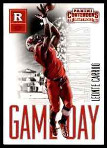 2016 PANINI CONTENDERS GAME DAY LEONTE CARROO RC RUTGERS SCARLET KNIGHTS #30