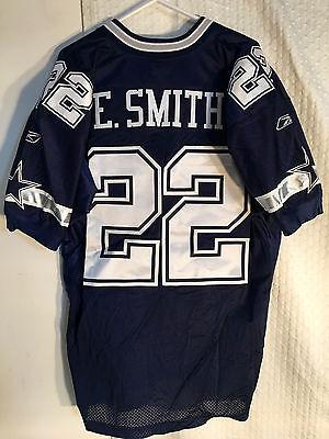 Reebok Authentic Nfl Jersey Dallas Cowboys Emmitt Smith Navy Sz 50 Ebay