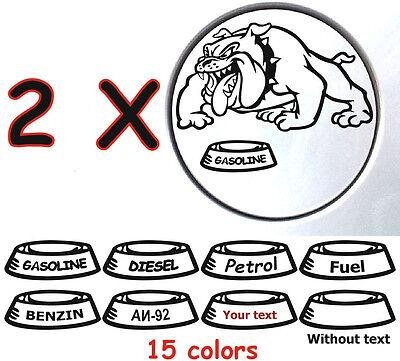 2 X Bulldog Dog Simons Cat Animals Gas Fuel Tank Decals Stickers Car Window I