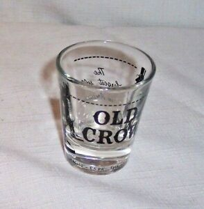 VINTAGE OLD CROW FRANKFORT KY STRAIGHT BOURBON WHISKY LIQUOR SHOT GLASS