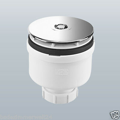 Senkrechte Ablaufgarnitur / Siphon 90mm für Duschwannen/Duschtassen Dusche
