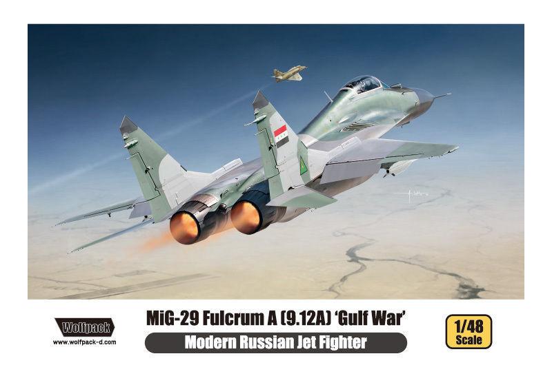 Les cadeaux cadeaux cadeaux de Noël sont envoyés tous les jours WOLFPACK MIG 29 FULCRUM A GULF WAR 1/48 COD.14804 | Paris  665f40