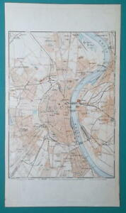 1936 MAP - GERMANY German Reich Cologne Koln City and Town ...
