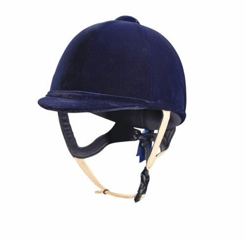 Caldene tuta velours équitation chapeau casque PAS015.2011 bracelet en cuir bleu marine noir