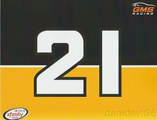 2016 Spencer Gallagher GMS Racing NASCAR Xfinity postcard