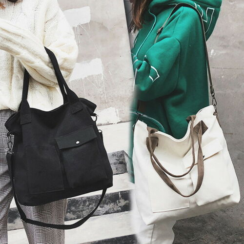 Womens Tote Ladies Shoulder Bag Purse Large Canvas Handbag Travel Messenger Bag