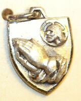 Protestant Praying Hands Charm Sterling Silver Vintage Hayward