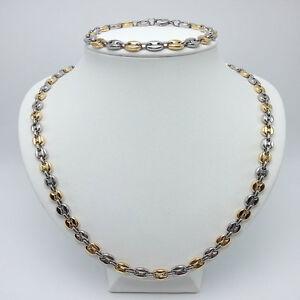 ca5caf88d1c collier et bracelet homme graine café en acier inoxydable argenté et ...