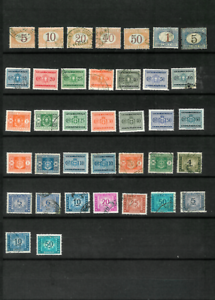 ITALY-Postage-Dues-M-amp-U-1870-1955-Mostly-All-Diff-Between-Scott-J5-amp-J91-75