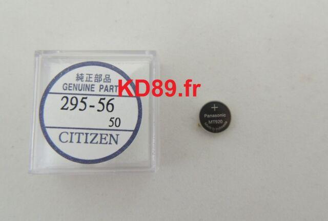 GENUINE Citizen Capacitor Battery Solar PANASONIC eco drive 295-56 MT920 Skyhawk