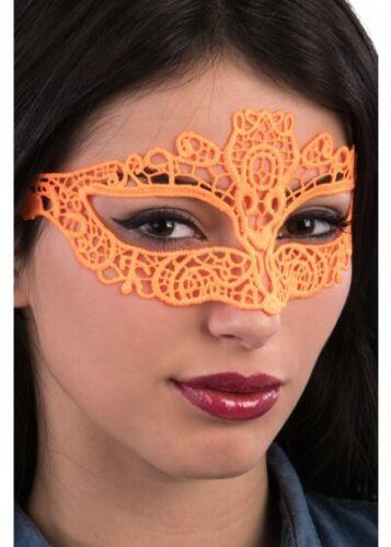 Neon Masquerade Mask Eyemask Eye Fancy Dress Fluro Rave 90/'s Lace Filigree Ball