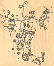 BEACH WOOD PIER POST Wood Mounted Rubber Stamp IMPRESSION OBSESSION E16111 New