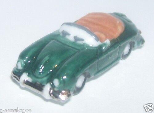 RARE PORSCHE 356 ROADSTER CABRIOLET green pas 911 FEVE PORCELAINE 3D 1 160 NEUF