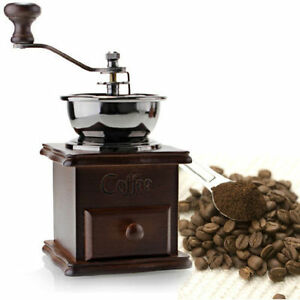 Princess Classic Coffee Maker And Grinder : Classic wood hand coffee grinder coffee bean grinder mill grinding machine 852