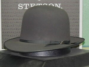 08a50a38dd3 Image is loading STETSON-PREMIER-STRATOLINER-OPEN-CROWN-SOFT-FUR-FELT-