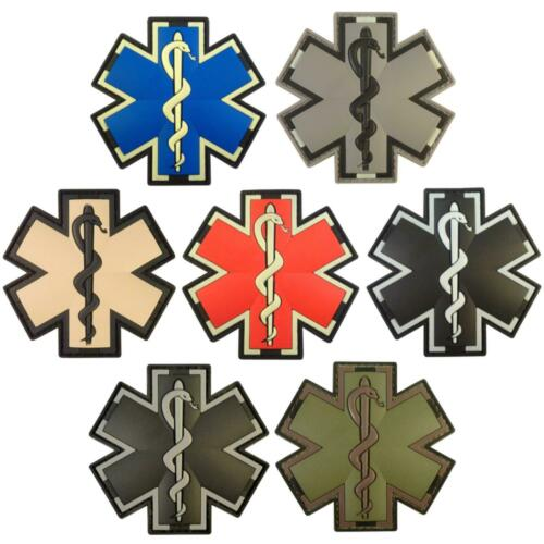 star or life EMT medic EMS PVC paramedic morale tactical touch fastener patch