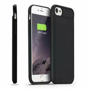 competitive price d8075 92bb8 Details about iPhone 8/7 Battery Case Slim Support Lightning Headphones  Charging Cover (Black)