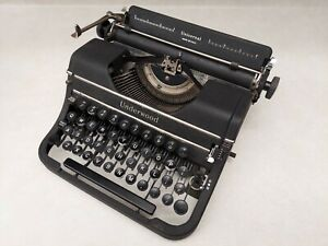 Underwood Universal Typemaster Portable Typewriter Vintage 1940s Made USA NY