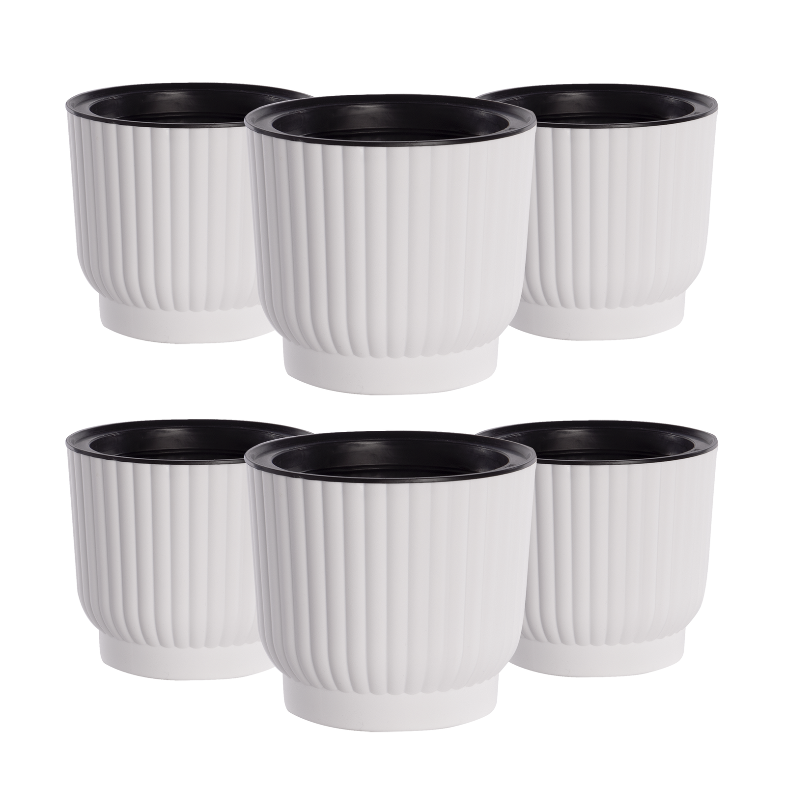 Self Watering Plant Pots Set of 6 Automatic Water Solution for Plants Pukkr