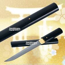 Black Shirasaya Handmade Tanto Samurai Sword Very Sharp with Bag