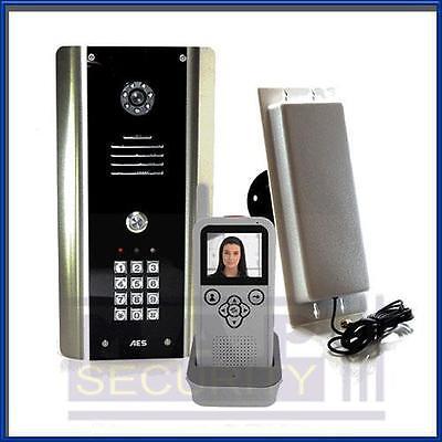 1 Vie Wireless Videocitofono/sistema Di Interfono Con Pannello & Ricevitore 605-abk Aes-mostra Il Titolo Originale Per Produrre Un Effetto Verso Una Visione Chiara