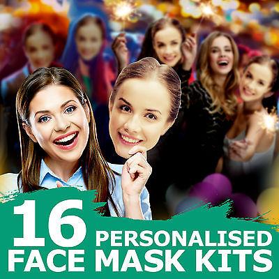 16 Set Maschera Viso Personalizzato Ginnastica Per Compleanno Addio Al Celibato Nubilato Notte Fuori 1-