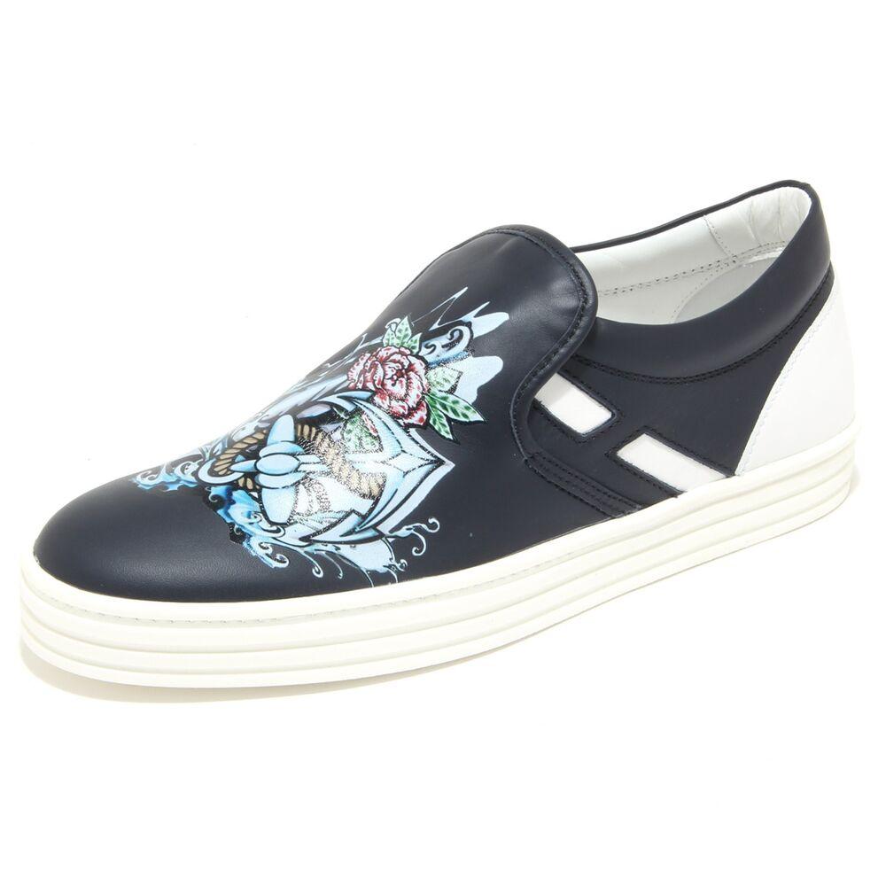 0390n Slip On Hogan Rebel Scarpe Uomo Sneaker Shoes Men Blu