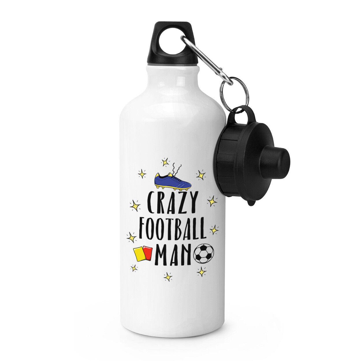 Crazy Crazy Crazy Football Homme Sports Boisson Bouteille Camping fiole-Drôle de soccer 7bbc33